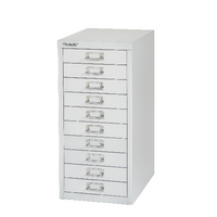 FF BISLEY 10 DRW CABINET SILVER