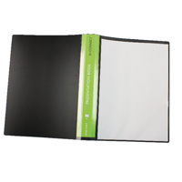 Q-CONNECT PRES DISPLAY BOOK 40 PKT BLACK