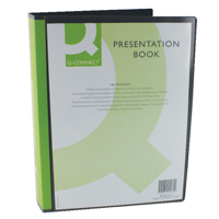 Q-CONNECT PRES DISPLAY BOOK 100PKT BLACK