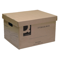 Q-CONNECT BROWN STORAGE BOX 335X400X250