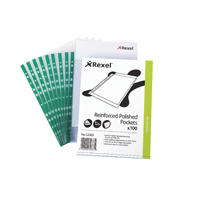 REXEL COPYKING CLEAR REINF POCKETS PK100