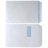 WHITE C4 WINDOW S/SEAL ENVELOPES PK250